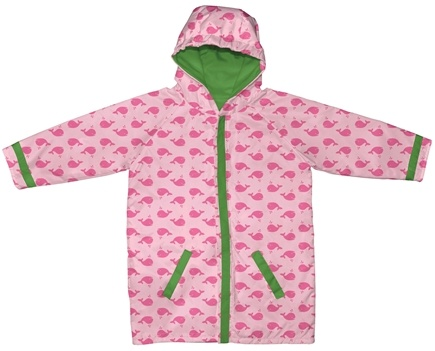 DROPPED: Green Sprouts - Midweight Raincoat Large/Extra Large 18-24 Months Whales Pink