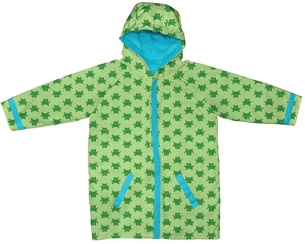 DROPPED: Green Sprouts - Midweight Raincoat Small/Medium 6-12 Months Frogs Green