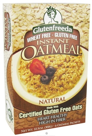 DROPPED: Glutenfreeda - Instant Oatmeal Natural 6 Packets - 10.5 oz.