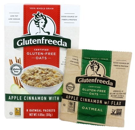 Zoom View - Instant Oatmeal Apple Cinnamon with Flax 6 Packets