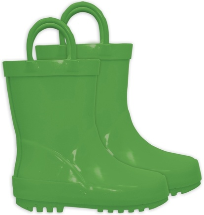 DROPPED: Green Sprouts - Solid Rubber Rain Boots Size 8 Green
