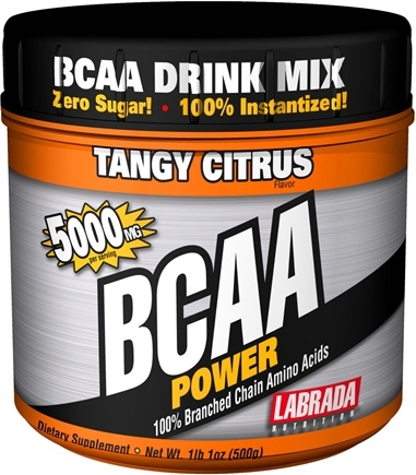 DROPPED: Labrada - BCAA Power 100% Branched Chain Amino Acids Tangy Citrus 5000 mg. - 500 Grams