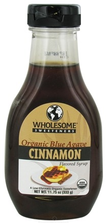 DROPPED: Wholesome! - Organic Blue Agave Flavored Syrup Cinnamon - 11.75 oz. CLEARANCE PRICED