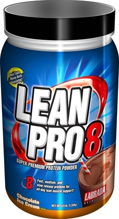 DROPPED: Labrada - Lean Pro 8 Super Premium Protein Powder Chocolate Ice Cream - 2.9 lbs. CLEARANCE PRICED