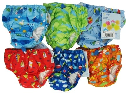 DROPPED: Green Sprouts - Ultimate Swim Diaper Mixed Print Boys Large 18 Months - CLEARANCE PRICED