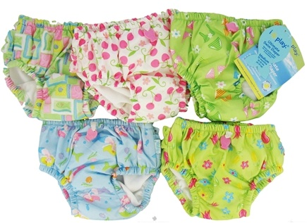 DROPPED: Green Sprouts - Ultimate Swim Diaper Mixed Print Girls Medium 12 Months - CLEARANCE PRICED