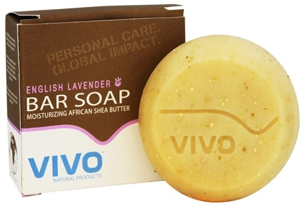 DROPPED: VIVO Natural Products - Moisturizing African Shea Butter Bar Soap English Lavender - 4.5 oz.