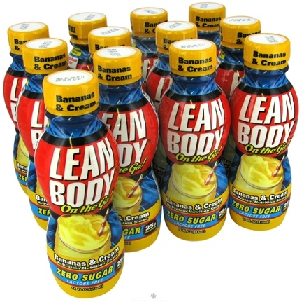 DROPPED: Labrada - Lean Body On the Go Hi-Protein Nutrition Shake RTD Bananas & Cream - 14 oz.