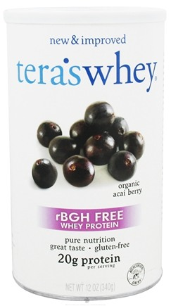DROPPED: Tera's Whey - Whey Protein rBGH Free Acai Berry - 12 oz. CLEARANCE PRICED