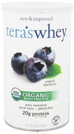 DROPPED: Tera's Whey - Organic Grass Fed Whey Protein Blueberry - 12 oz.