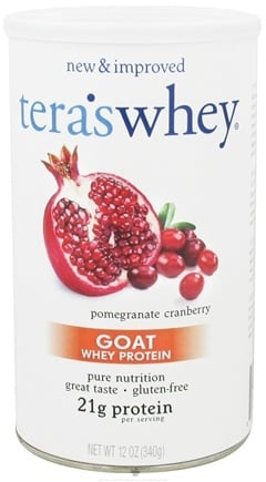 DROPPED: Tera's Whey - Goat Whey Protein Pomegranate Cranberry - 12 oz.