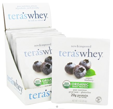 DROPPED: Tera's Whey - Organic Grass Fed Whey Protein Packet Blueberry - 1 oz.