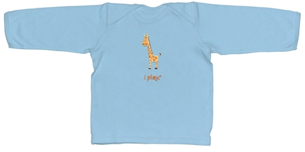 Zoom View - Organic Crawler Long Sleeve T-Shirt Giraffe Medium 12 Months