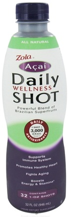 DROPPED: Zola - Acai Daily Wellness Shot - 32 oz.