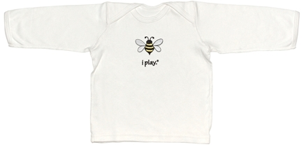 DROPPED: Green Sprouts - Organic Crawler Long Sleeve T-Shirt BumbleBee Small 6 Months White
