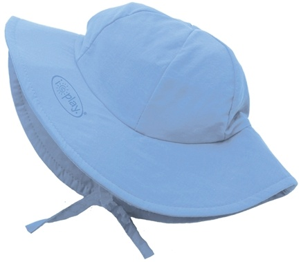 DROPPED: Green Sprouts - Solid Brim Sun Protection Hat Toddler 2-4 Years Light Blue - CLEARANCE PRICED