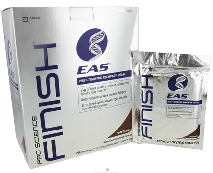 DROPPED: EAS - Pro Science Finish Post-Training Recovery Shake Chocolate - 20 Packet(s)
