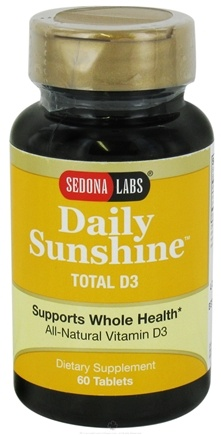 DROPPED: Sedona Labs - Daily Sunshine Total D3 - 60 Tablets