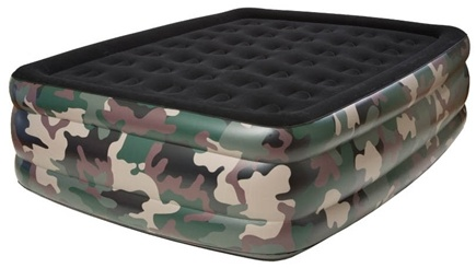DROPPED: Pure Comfort - Queen Raised Air Bed With Flock Top 8508CDB Camoflauge