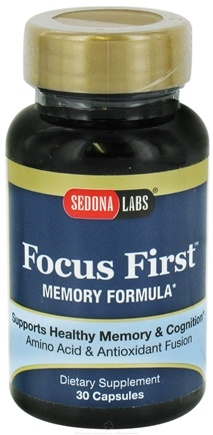 DROPPED: Sedona Labs - Focus First Memory Formula - 30 Capsules