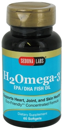 DROPPED: Sedona Labs - H2Omega-3 EPA/DHA Fish Oil - 60 Softgels CLEARANCE PRICED