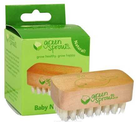 DROPPED: Green Sprouts - Baby Nail Brush Stage 1+ - CLEARANCE PRICED