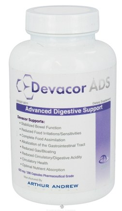 DROPPED: Arthur Andrew Medical - Devacor ADS Advanced Digestive Support 625 mg. - 200 Capsules