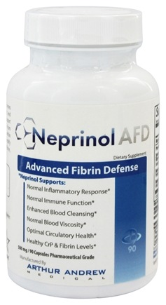 Arthur Andrew Medical - Neprinol Advanced Fibrin Defense 500 mg. - 90 Capsules