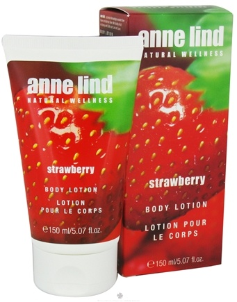 DROPPED: Annemarie Borlind - Anne Lind Natural Wellness Body Lotion Strawberry - 5.07 oz. CLEARANCE PRICED