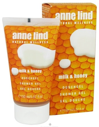 DROPPED: Borlind of Germany - Anne Lind Natural Wellness Shower Gel Milk & Honey - 5.07 oz. CLEARANCE PRICED