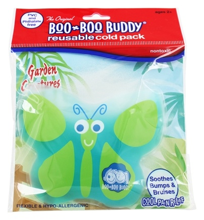 Boo Boo Buddy - Reusable Cold Pack Garden Creatures Design Butterfly
