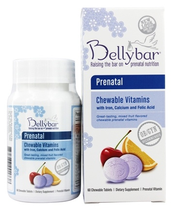 Belly Bar - Prenatal Chewable With Vitamin D - 60 Chewable Tablets