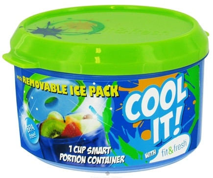 DROPPED: Fit & Fresh - Kids Smart Portion Container With Removable Ice Pack - 1 Cup(s) CLEARANCE PRICED