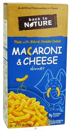 DROPPED: Back To Nature - Macaroni & Cheese Dinner - 6.5 oz. CLEARANCE PRICED