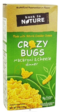 DROPPED: Back To Nature - Crazy Bugs Macaroni & Cheese Dinner - 6 oz. CLEARANCE PRICED