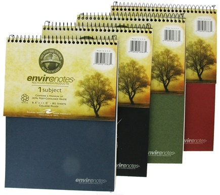 "DROPPED: Roaring Spring - Environotes Notebook 1 Subject College Ruled Recycled 8.5"" x 11.5"" - 80 Sheet(s) CLEARANCE PRICED"