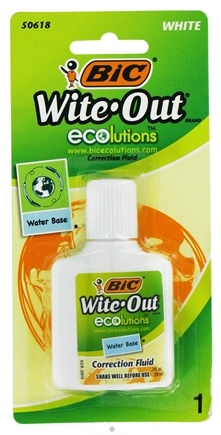 DROPPED: BIC - Wite-Out Ecolutions Water Base Correction Fluid - 0.7 oz. CLEARANCE PRICED