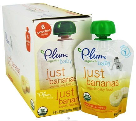 DROPPED: Plum Organics - Organic Baby Food Just Bananas 6+ months - 3.5 oz. CLEARANCE PRICED