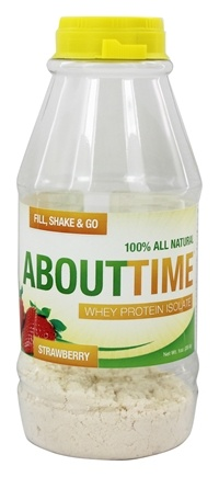 DROPPED: About Time - Whey Protein Isolate RTD Strawberry - 1 oz.