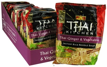 Zoom View - Instant Rice Noodle Soup Thai Ginger & Vegetable without I&G