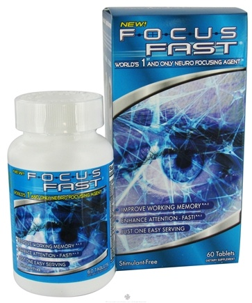 DROPPED: Enyotics Health Sciences - Focus Fast - 60 Tablets CLEARANCE PRICED