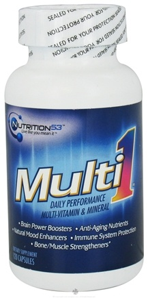 DROPPED: Nutrition 53 - Multi1 Daily Performance Multi-Vitamin & Mineral - 120 Capsules CLEARANCE PRICED