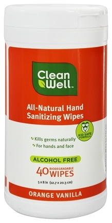 Zoom View - All-Natural Hand Sanitizing Wipes