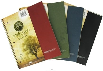 "Zoom View - Environotes Notebook 1 Subject College Ruled Recycled 11"" x 9"""