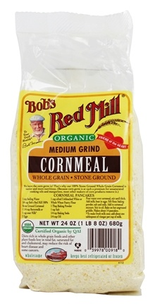 Bob's Red Mill - Organic Medium Grind Cornmeal - 24 oz.