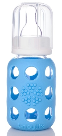 Zoom View - Glass Baby Bottle With Silicone Sleeve