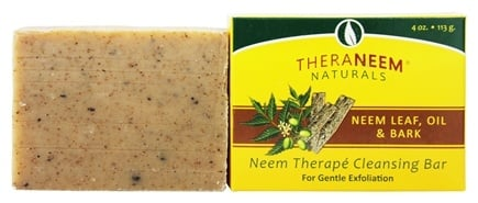 Organix South - TheraNeem Organix Cleansing Bar For Gentle Exfoliation Neem Leaf, Oil & Bark - 4 oz.