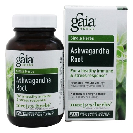 Zoom View - Ashwagandha Root Liquid Phyto-Caps