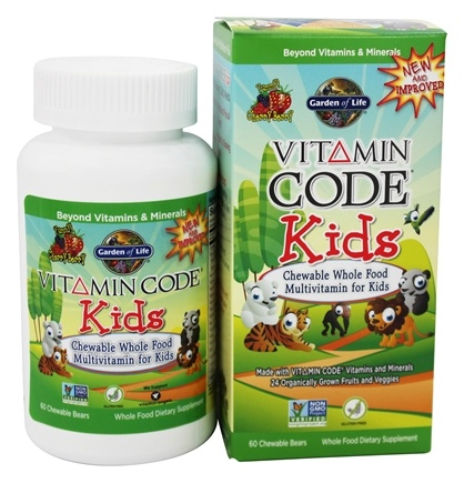 buy garden of life vitamin code kids whole food multivitamin cherry berry 60 chewables at luckyvitamincom - Garden Of Life Multivitamin