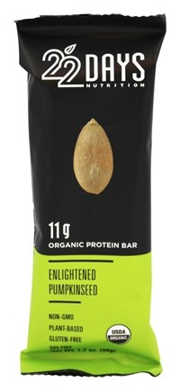 DROPPED: 22 Days Nutrition - Organic Protein Bar Enlightened Pumpkinseed - 1.7 oz.